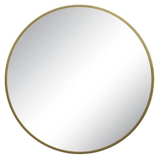 brass round mirror