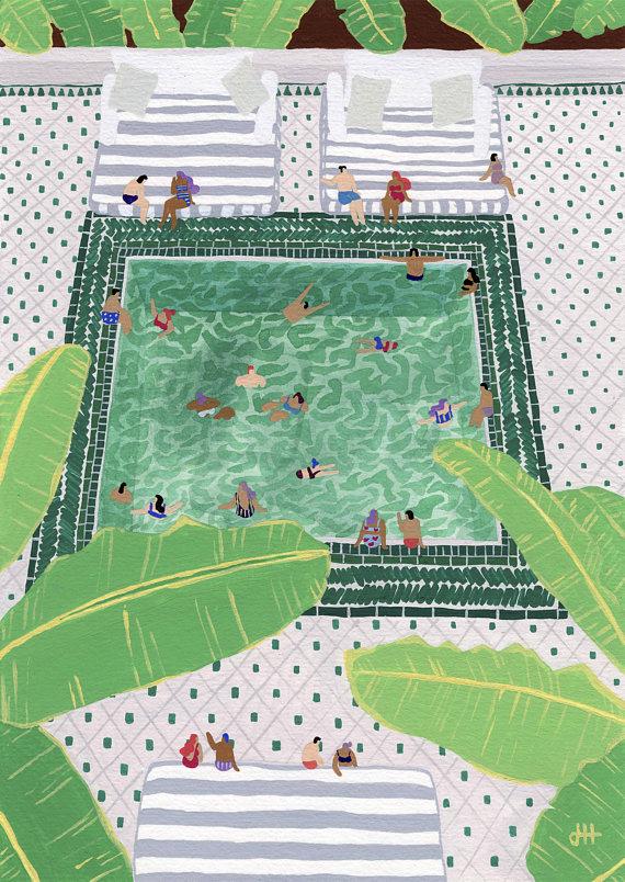 """Green Riad"""" by Helo Birdie"""