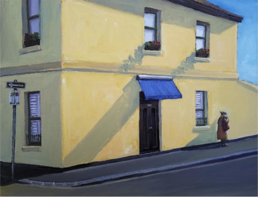 Blue awning house by Steve Sorec