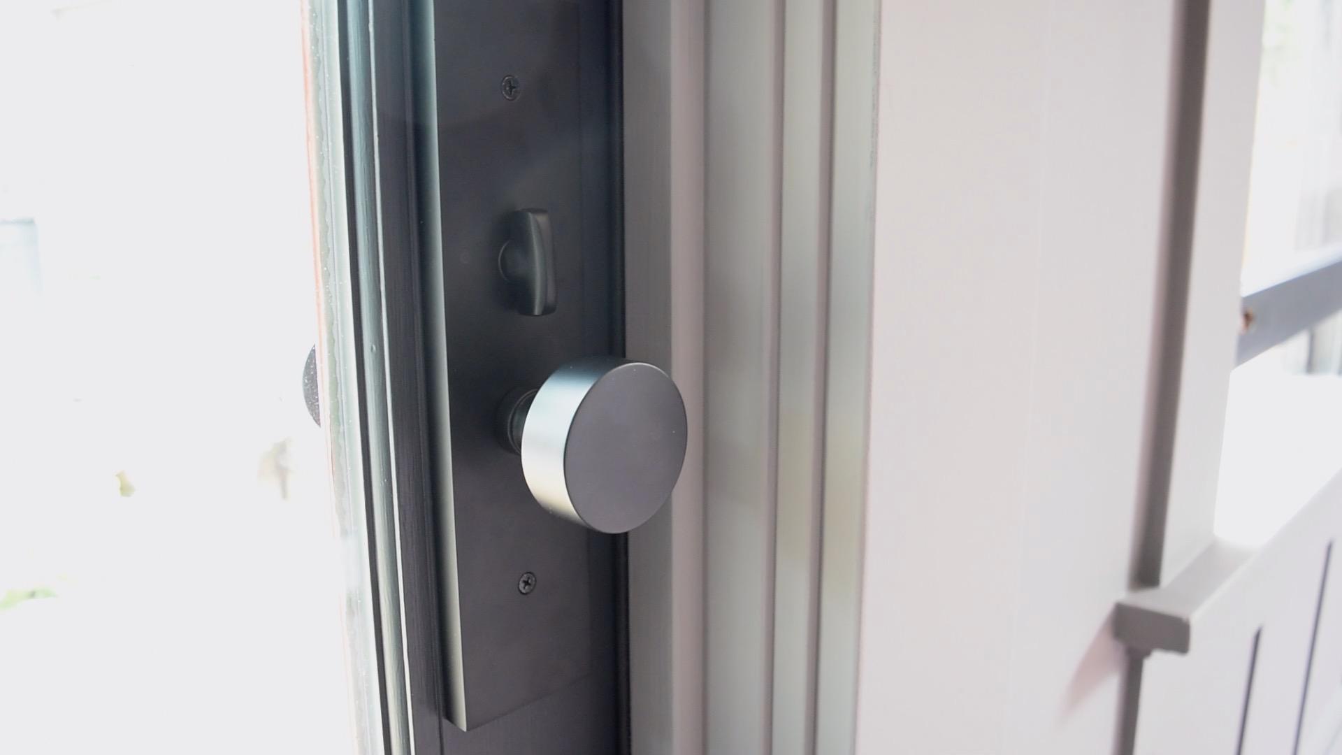 The Gold Hive One Room Challenge Pella Door and Emtek Mormont Mortise Lock