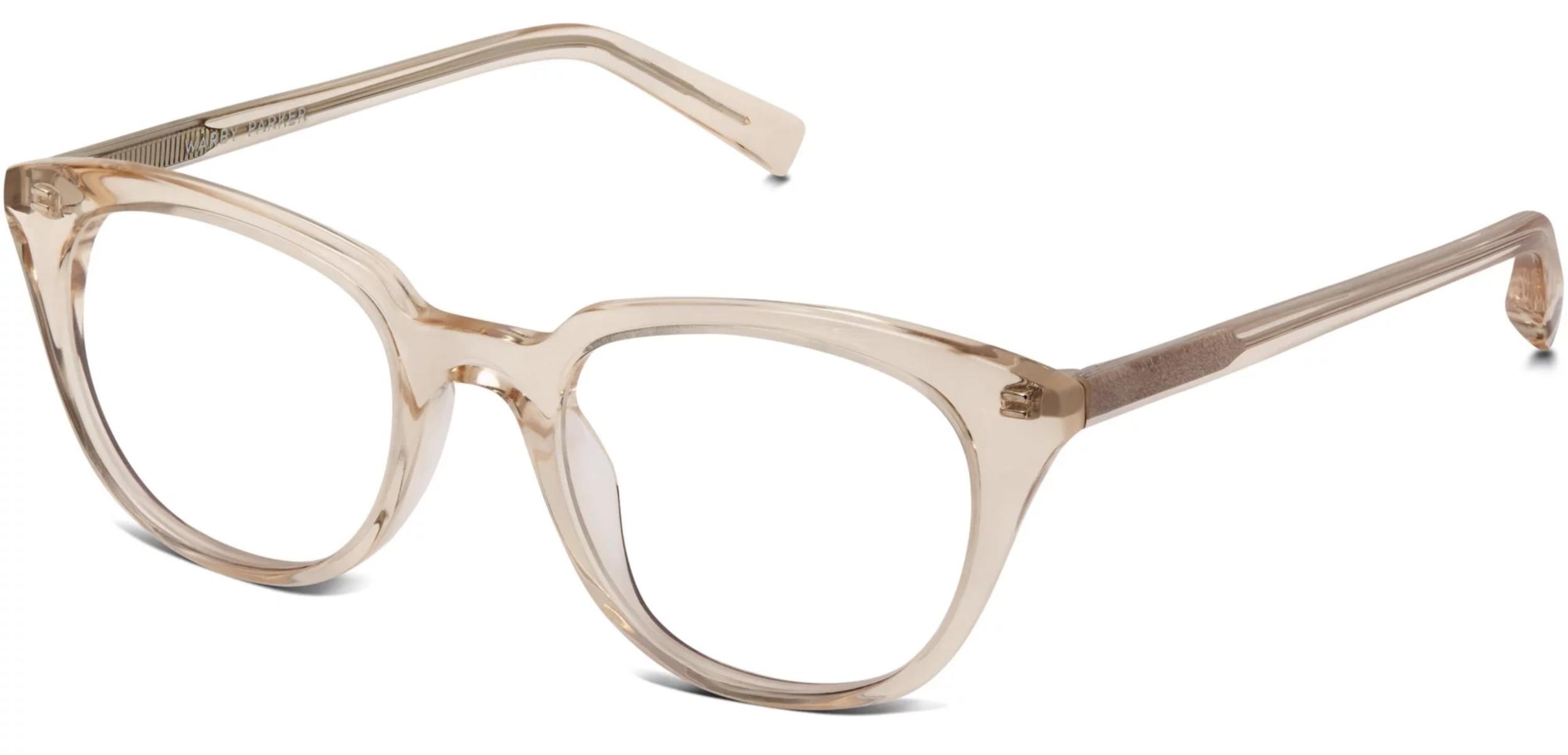 Warby Parker Chelsea Grapefruit Soda glasses