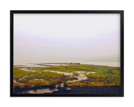 HAZY LAKE WALL ART PRINTS BY GAUCHO WORKS   MINTED