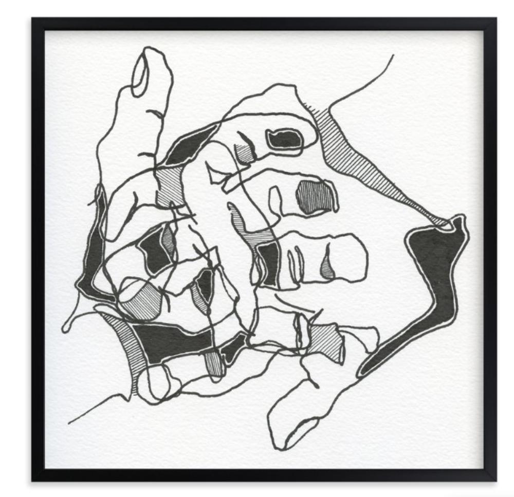 """""""YOURS & MINE"""" - PAINTING ART PRINT BY STEPHANIE NOWOTARSKI."""