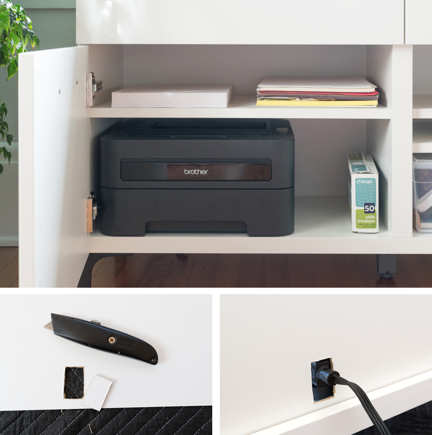 cord management solutions hide printer in cabinet.jpg