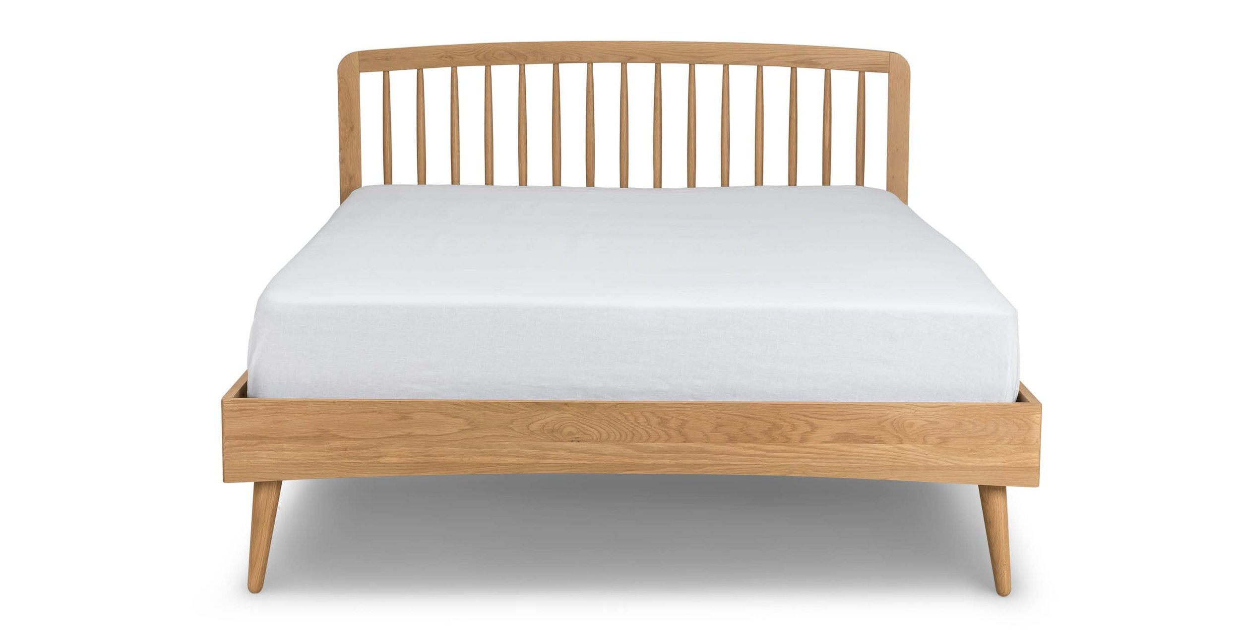Article Culla White Oak Spindle Bed