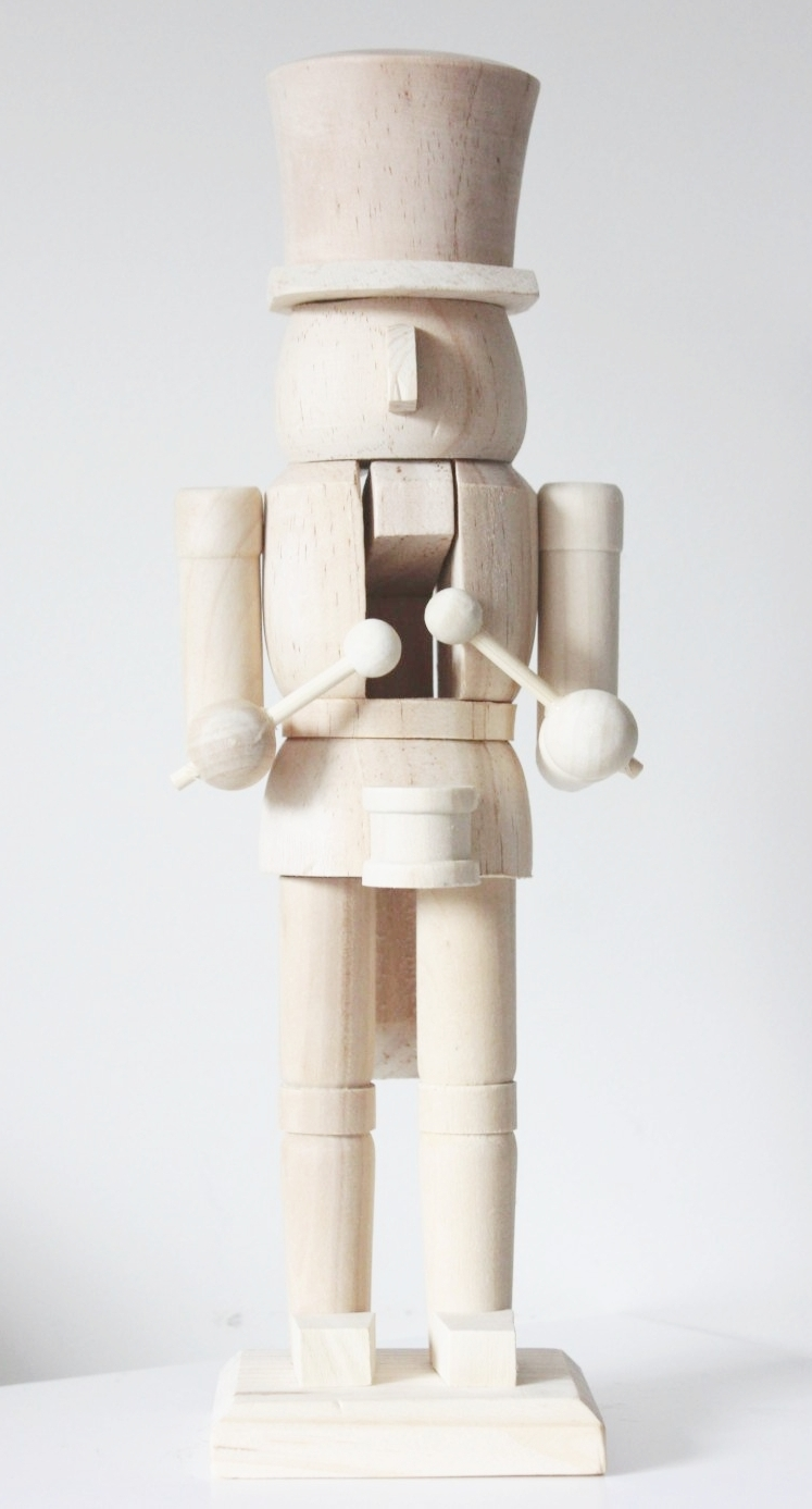Unfinished Wooden Nutcracker