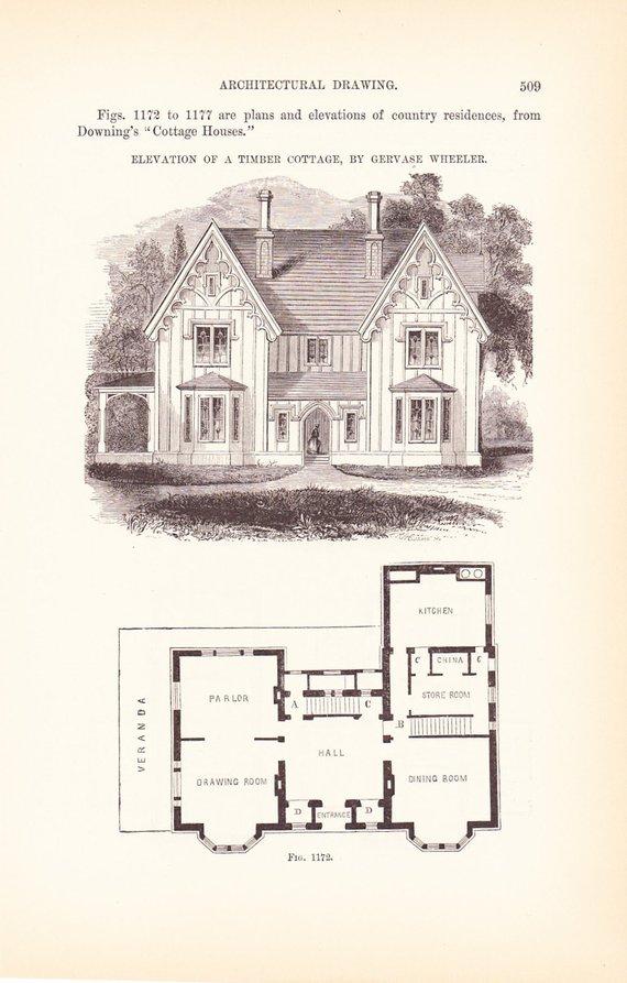 Vintage House Plans and Blueprints
