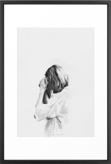 MINIMAL Framed Art Print by Lucie Birant