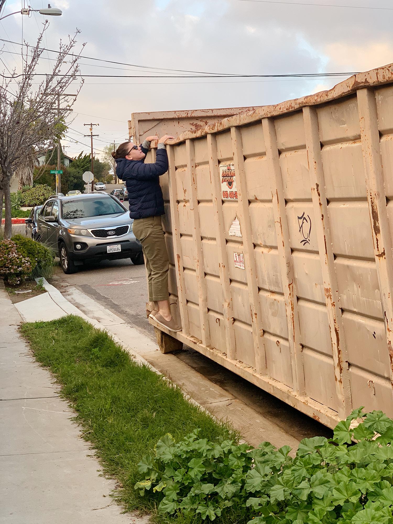dumpster diving for hardwood floors.jpg