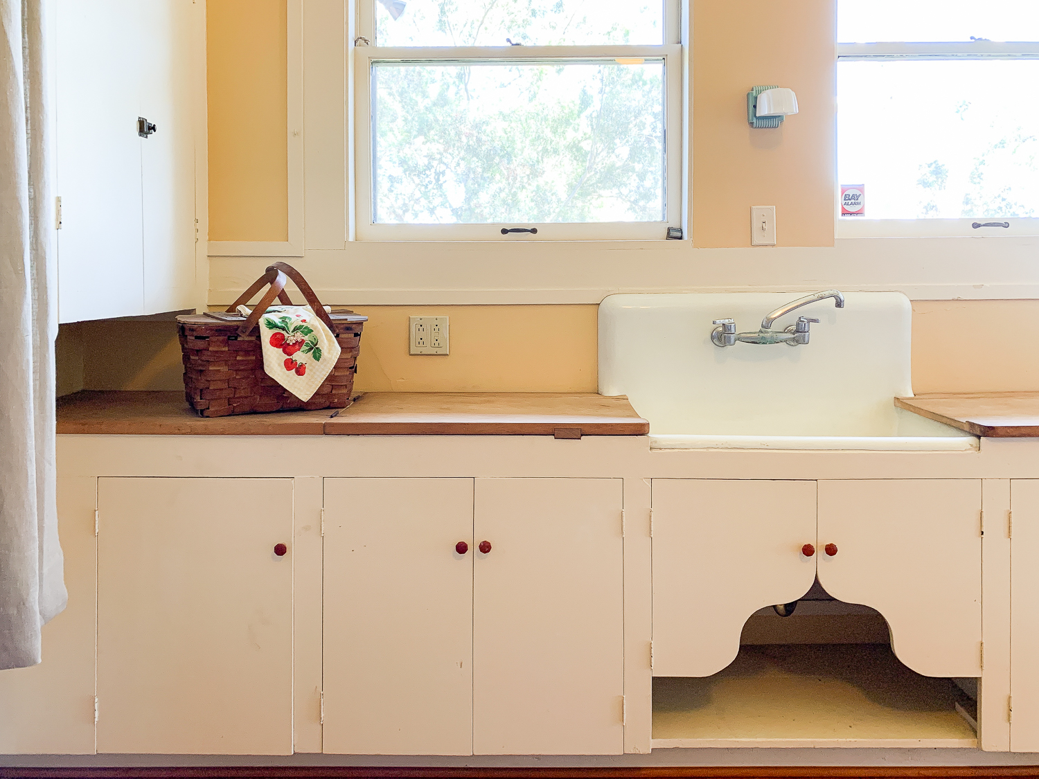 The Marston House vintage kitchen inspiration The Gold Hive-9104 decorative cut out under sink.jpg