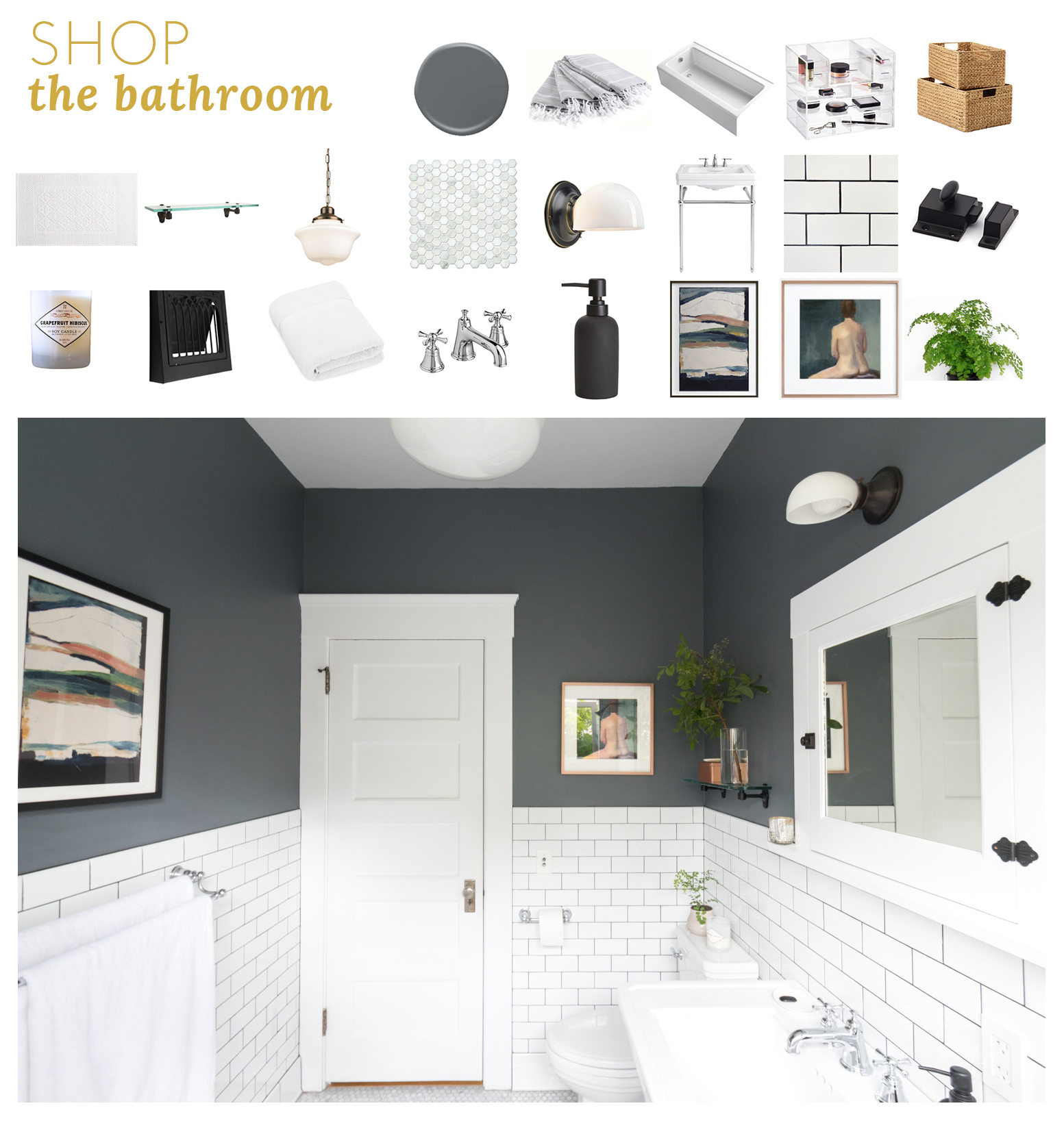 Shop+the+bathroom+The+Gold+Hive - vintage grey and subway tile.jpg