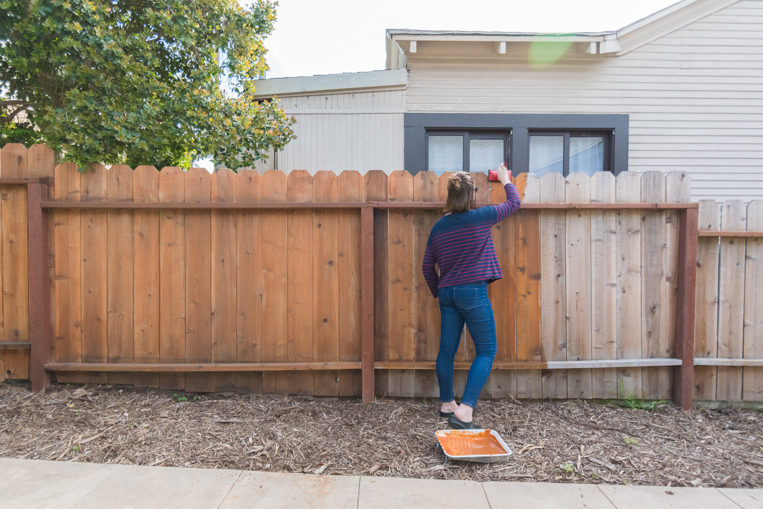 The Gold Hive How to Refresh a Fence - Powerwash-0049.jpg