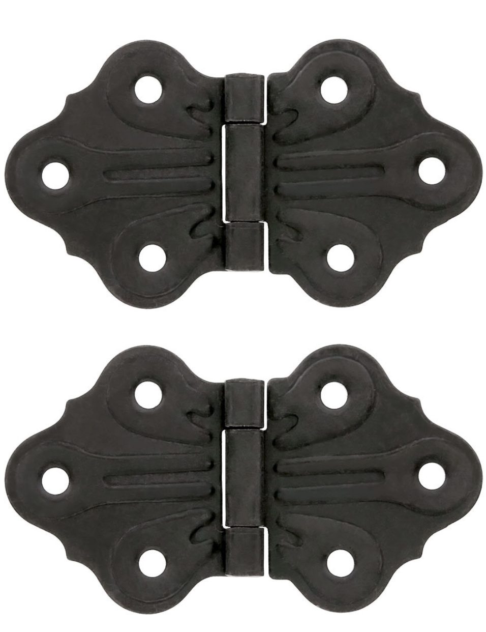 Pair of Butterfly Flush Mount Cabinet Hinges