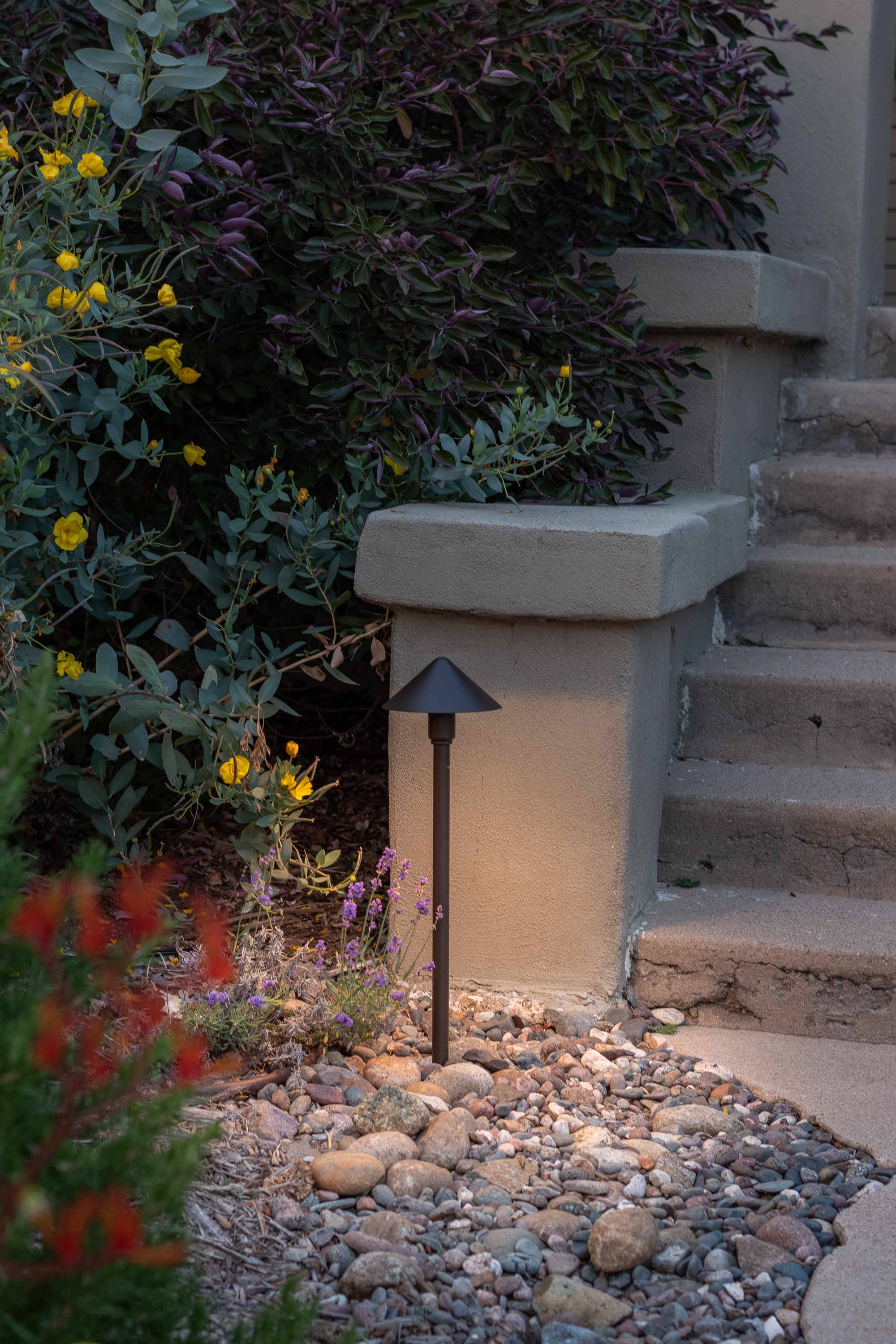 The Gold Hive Landscape Lighting Kichler How To California Garden Front Yard-0195.jpg