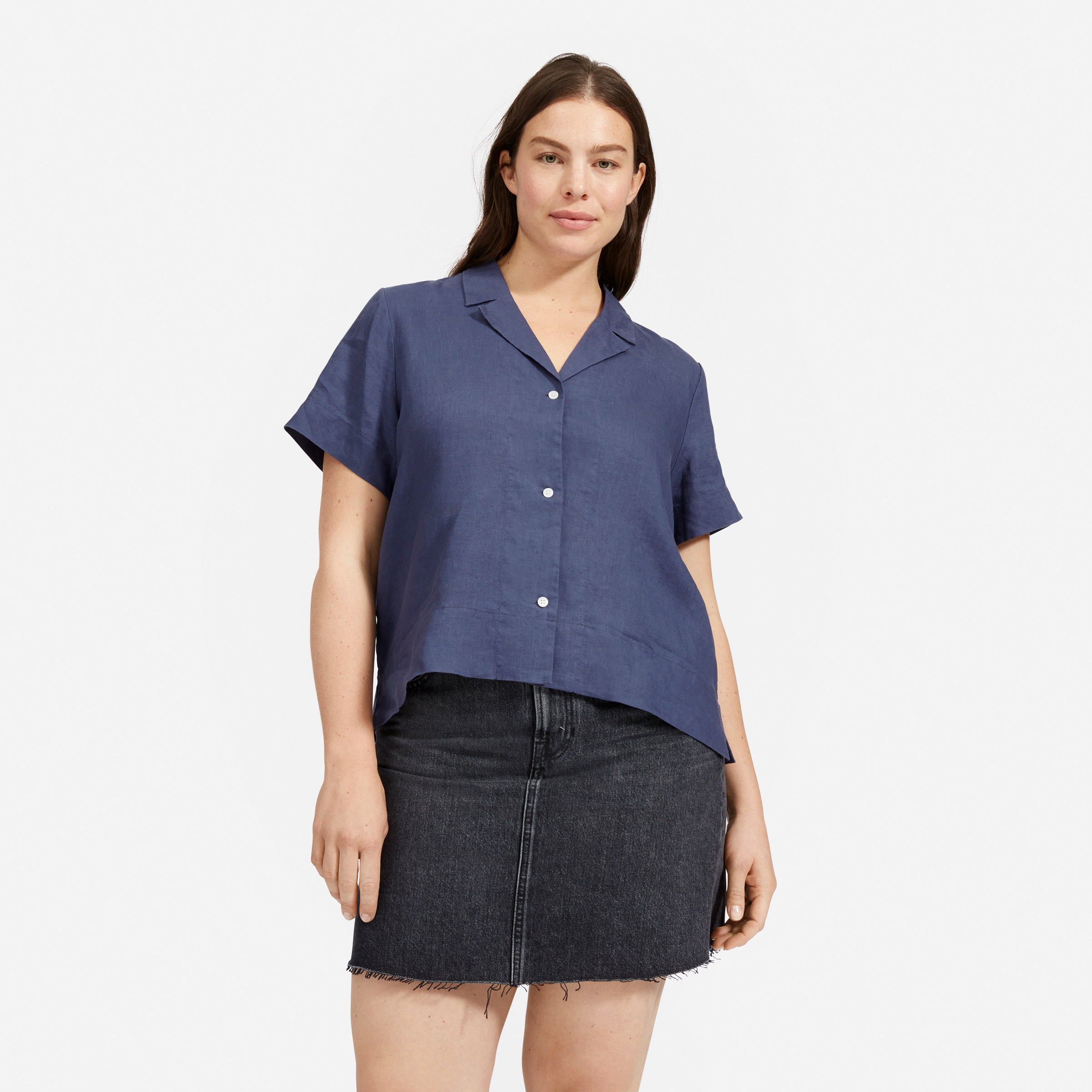 THE LINEN NOTCH SHORT-SLEEVE SHIRT