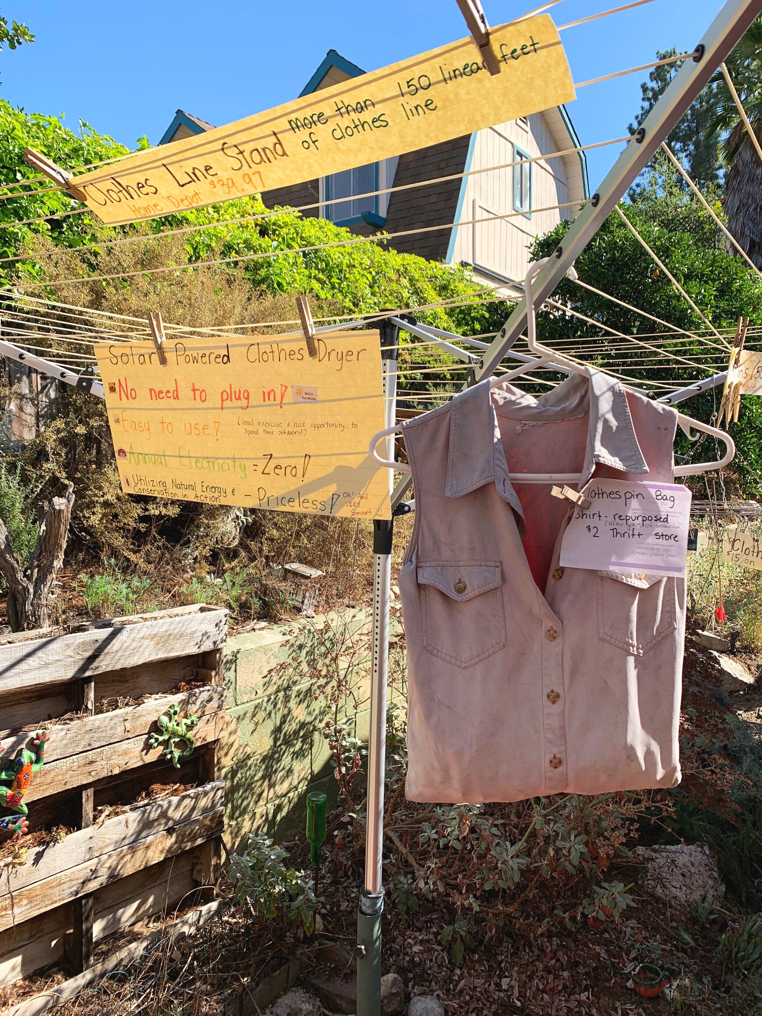 The Gold Hive Green Homes Tour Solar Powered Clothes Dryer