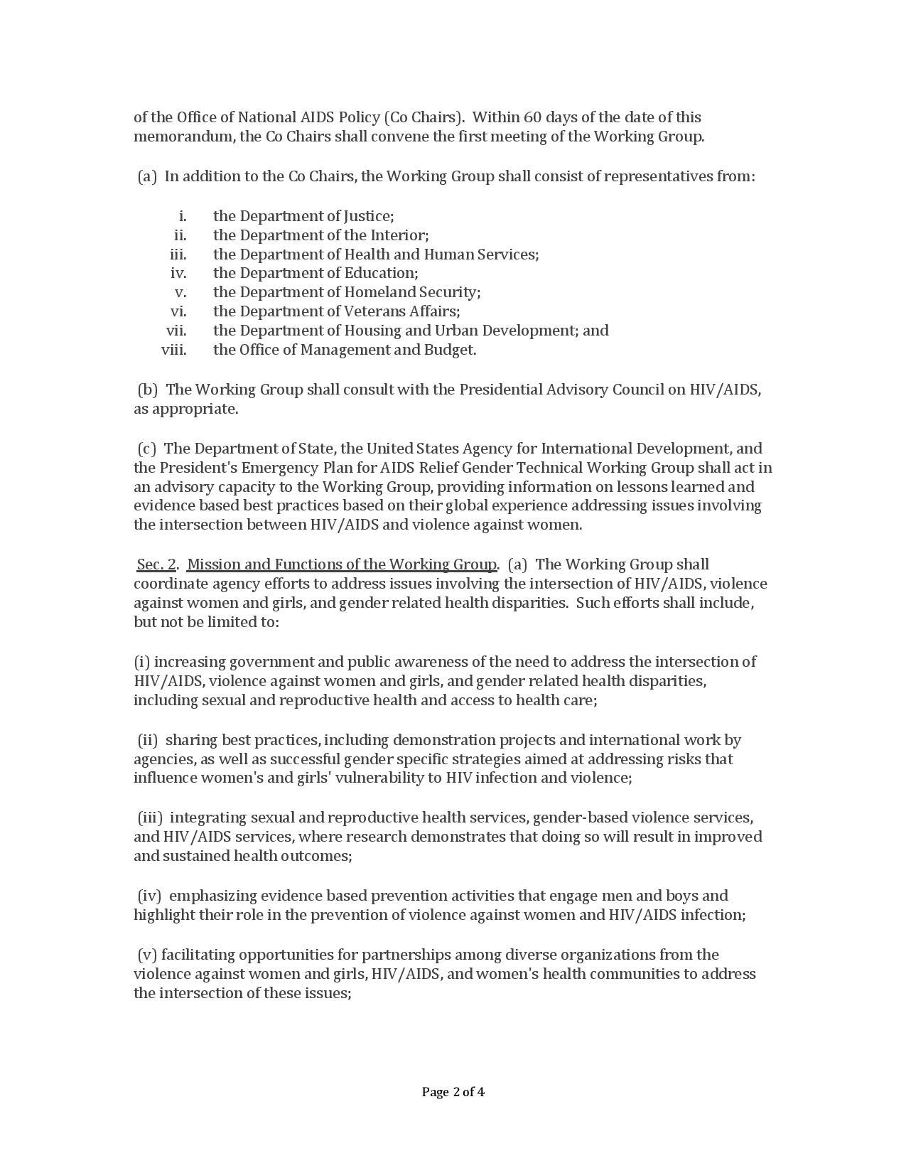 WH_PresMemo-EstabWrkgGrpIntersectionHIV-AIDS-VAWandGirlsandGender-RelatedHealthDisparities_3-30-2012-page-002.jpg