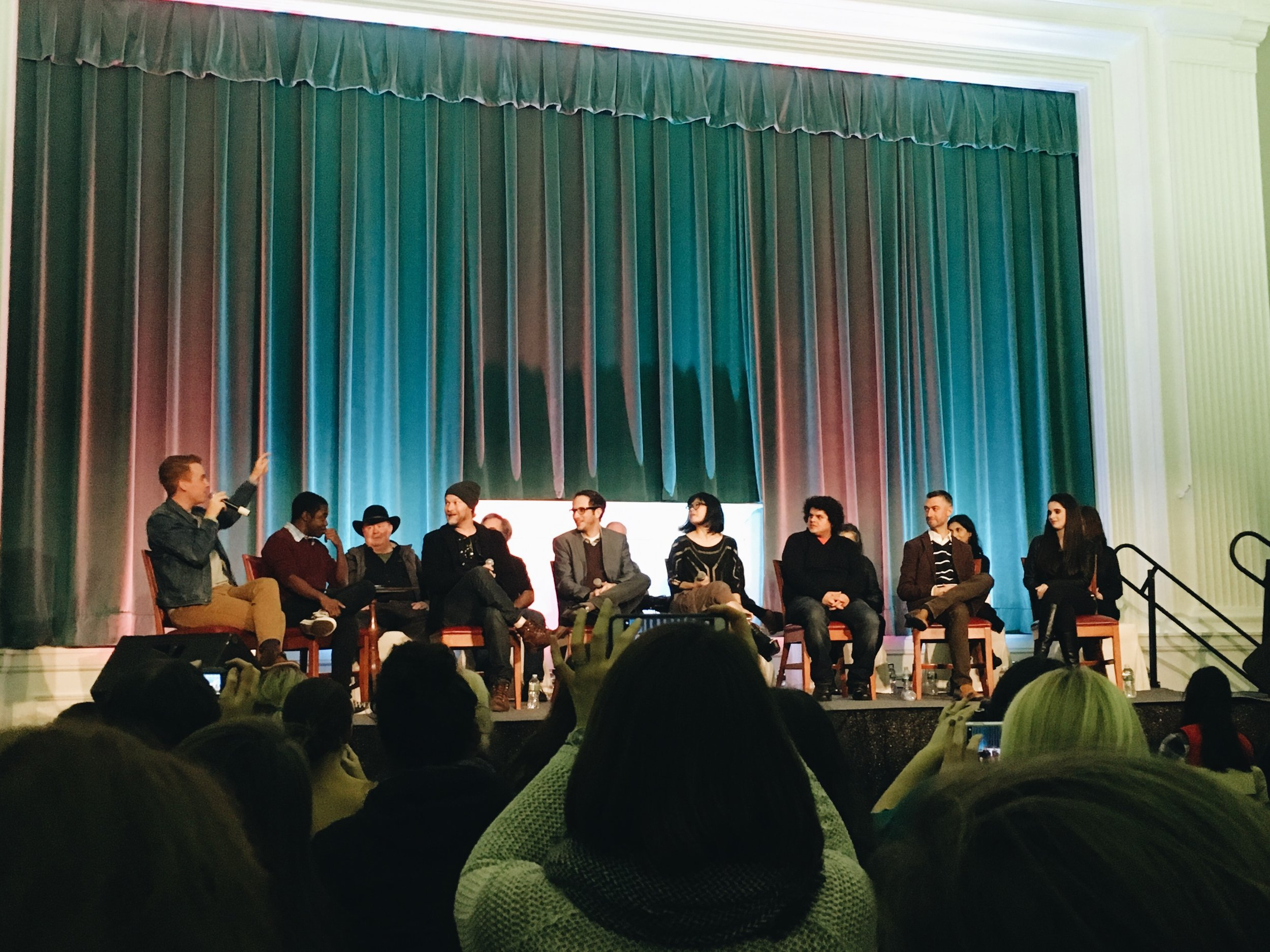 The Gilmore Guys moderated the cast panel, which was full of the lovable, unsung heros of Gilmore Girls--the townies.