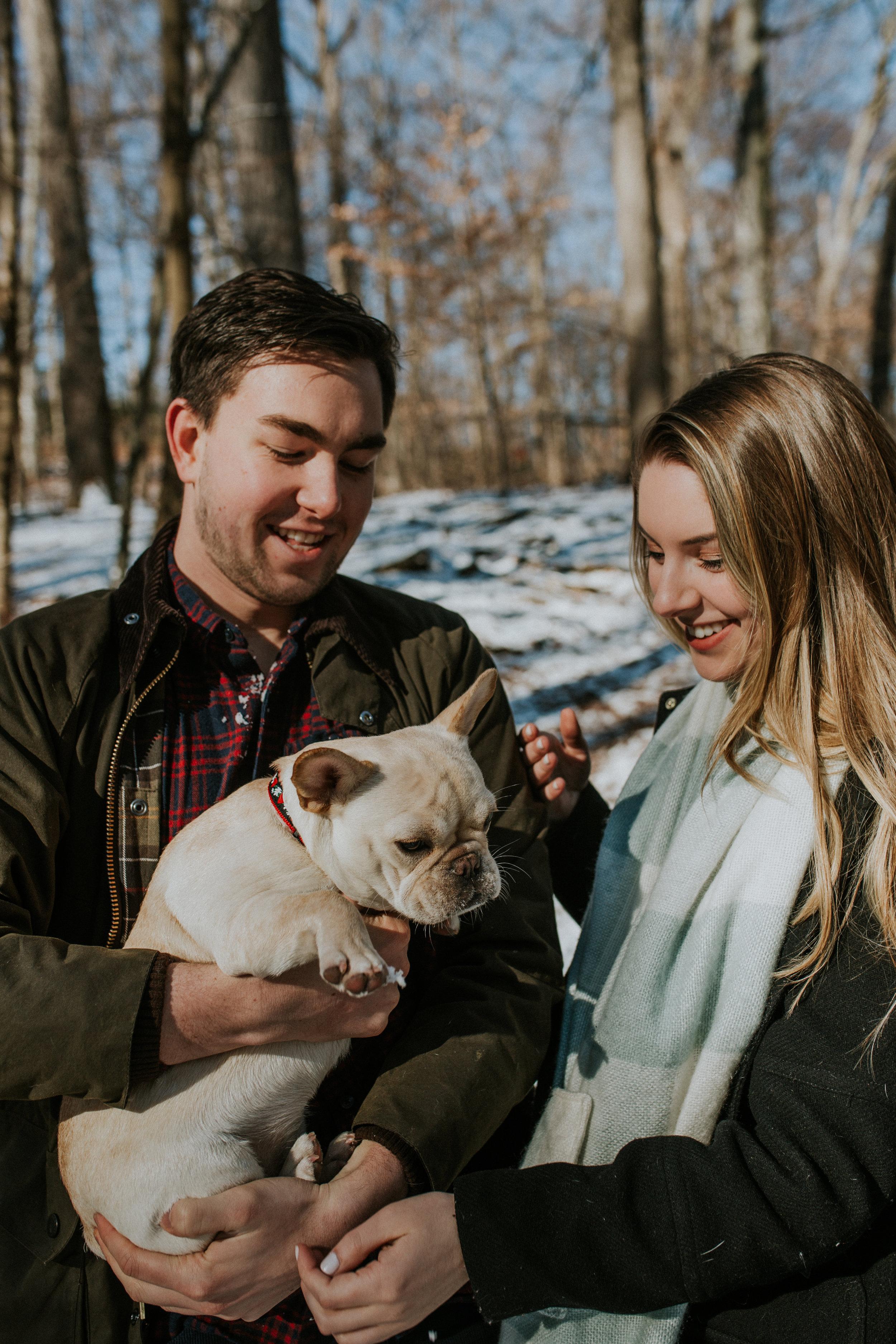 French bulldog great dane dog photography lifestyle nyc new york photographer hipster boho couple engagement-24.jpg