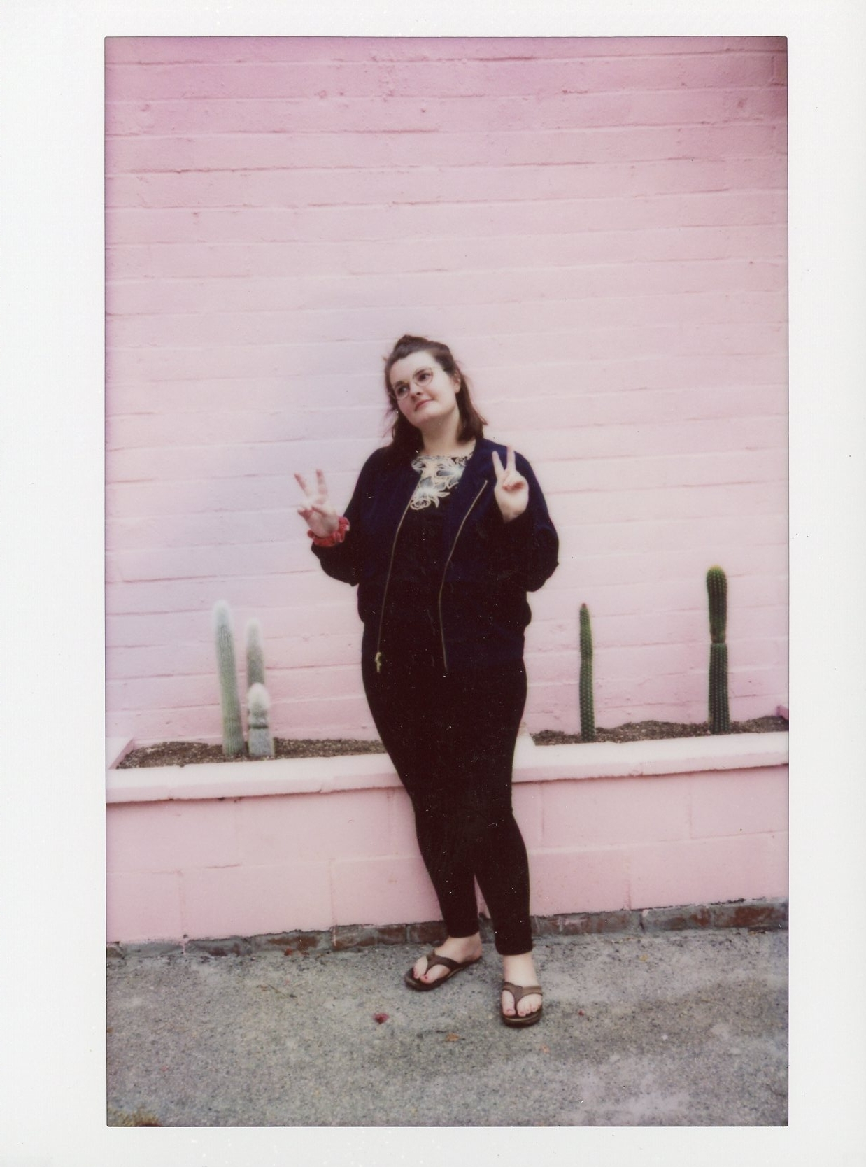 Pink Wall Malibu polaroid Rachel Hanon Photography