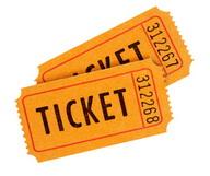 Orange admission tickets (XL)