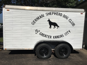 Mike Kennedy  pressured washed and repainted the lettering, rims and fenders on the Club trailer making it presentable for the s how . Great job, Mike!!