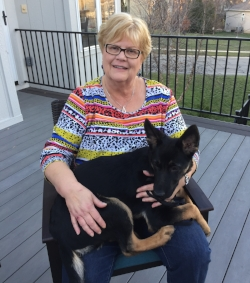 Cindy Hartman  added a new puppy to her household.  Jule  is the newest member of the family. She is from Germany and just turned 4 months.