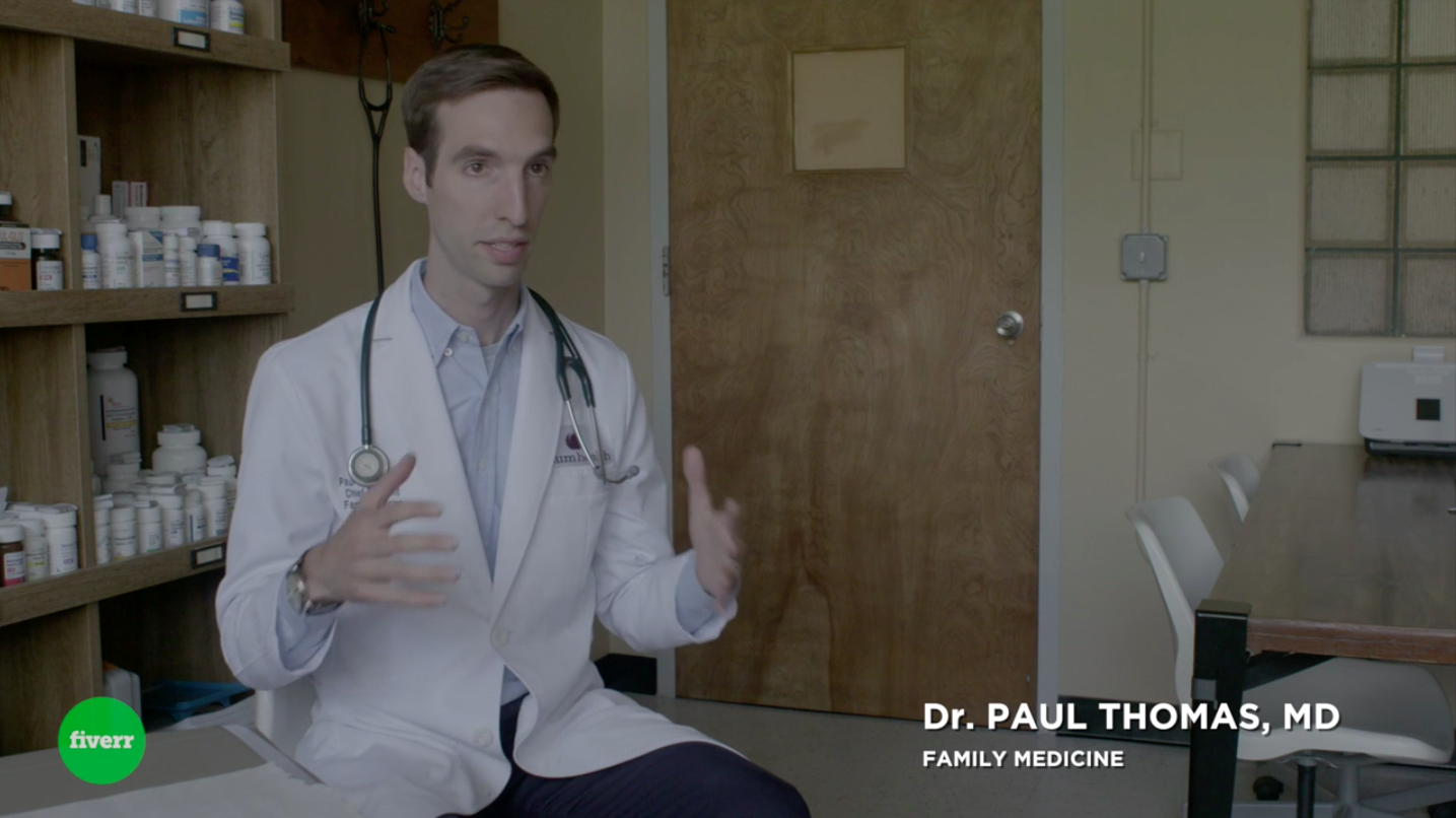 One of the screen shots from the Inc.com and Fiverr video featuring Plum Health DPC