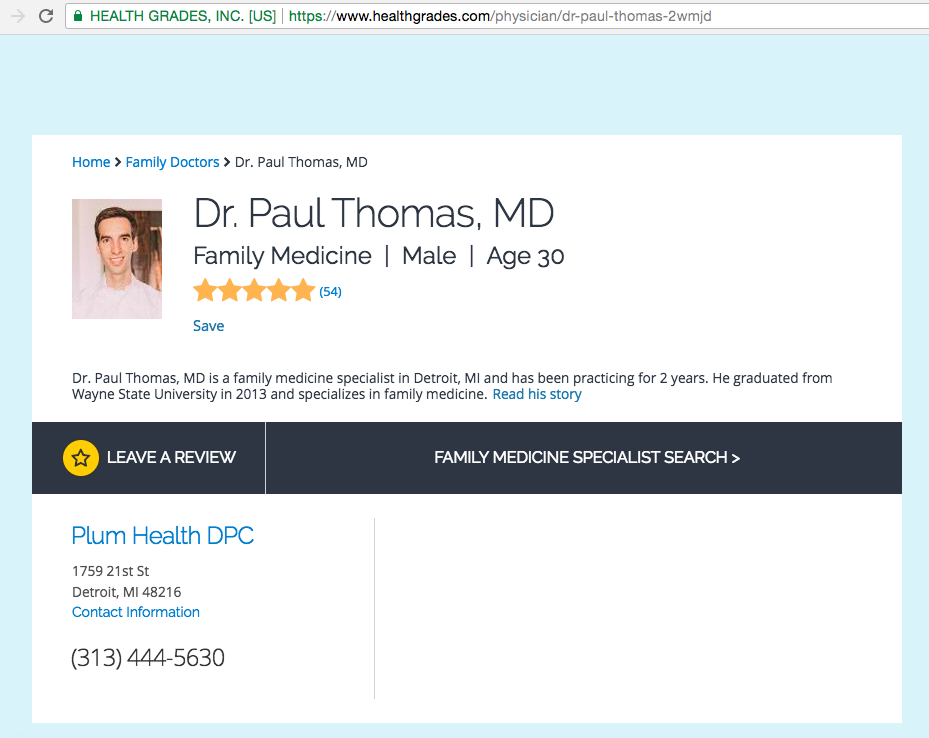 2018 Paul Thomas MD Plum Health DPC Best Family Medicine Doctor In Detroit.png