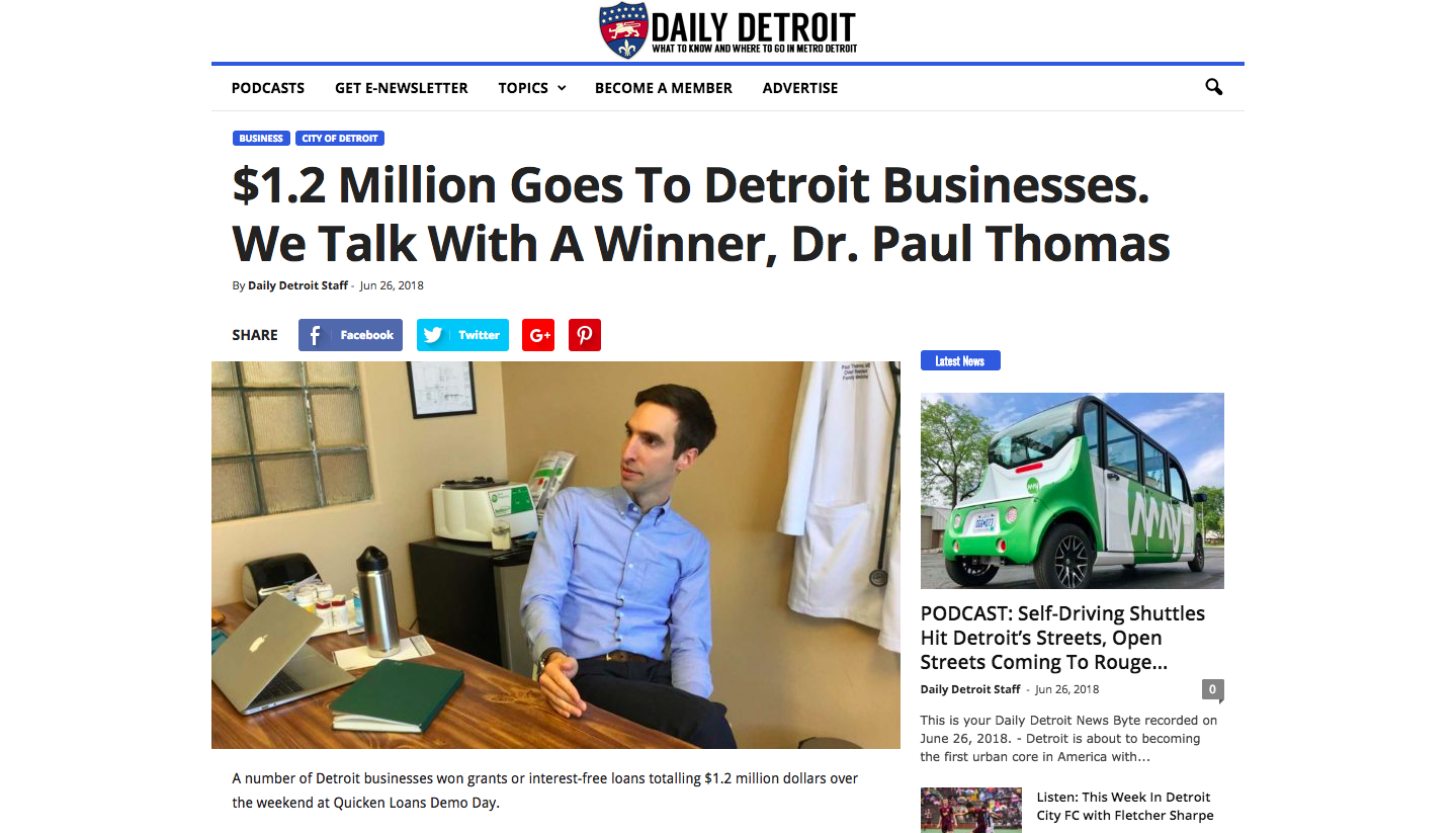 Plum Health Interview on Podcast Detroit about winning Detroit Demo Day.png