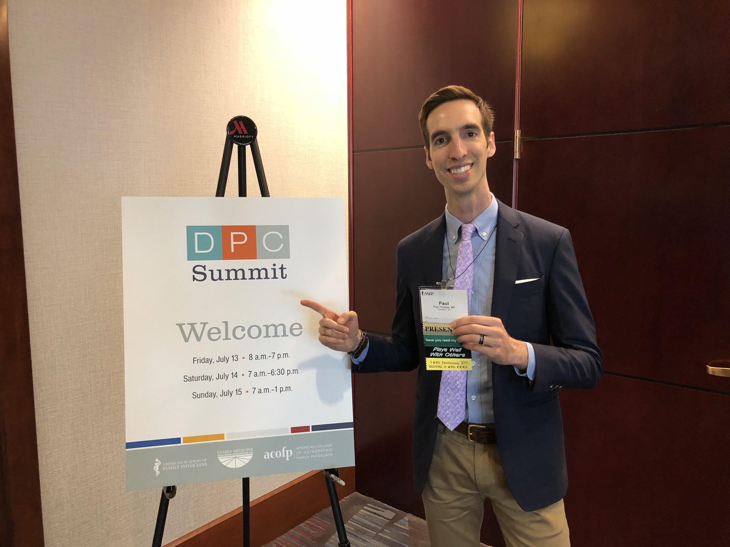 2018.07.15 AAFP DPC Summit 2018 DPC Hustles Harder with Dr. Paul Thomas on stage.jpg