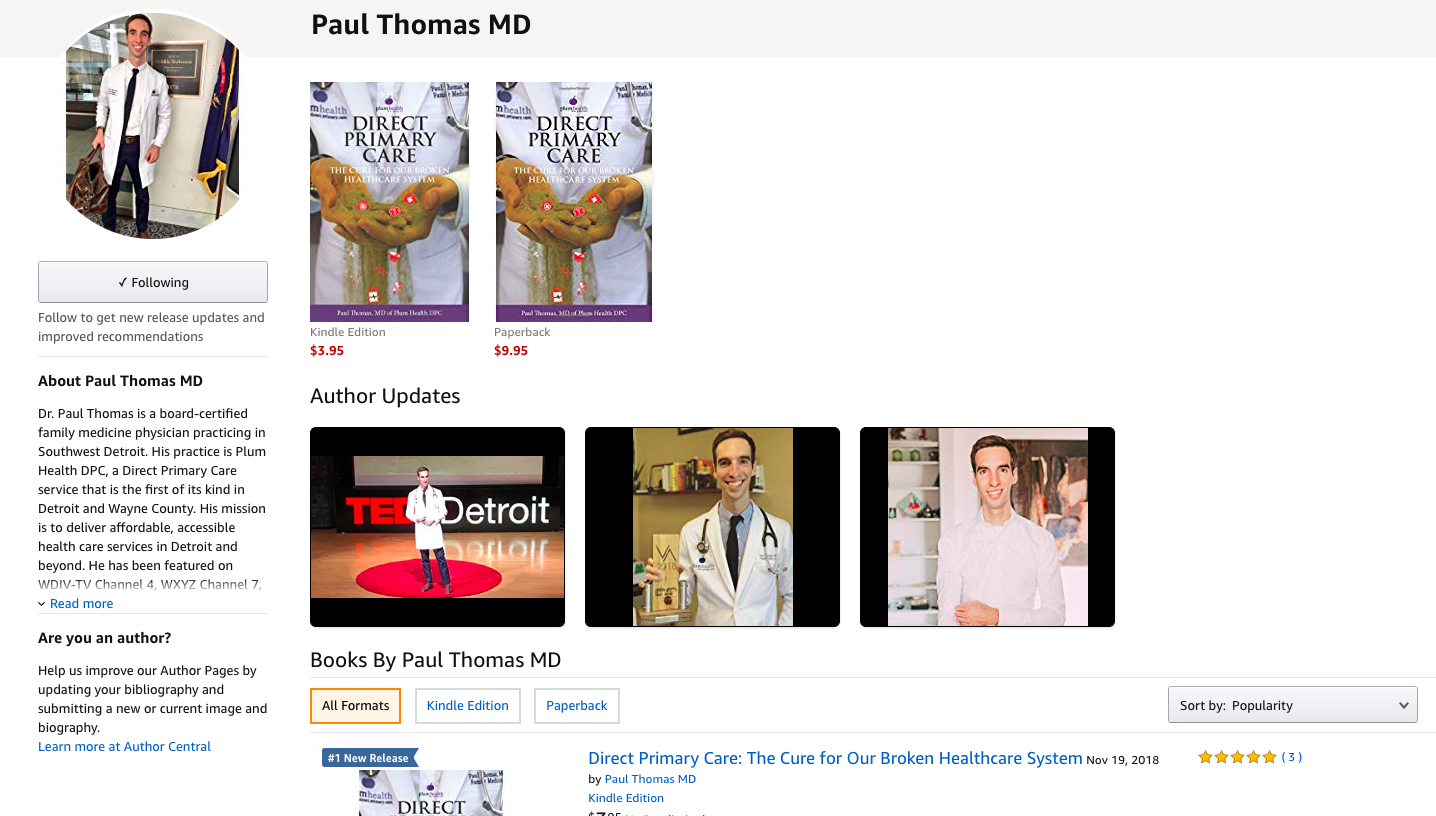 The  Author Page for Paul Thomas, MD on Amazon.com .