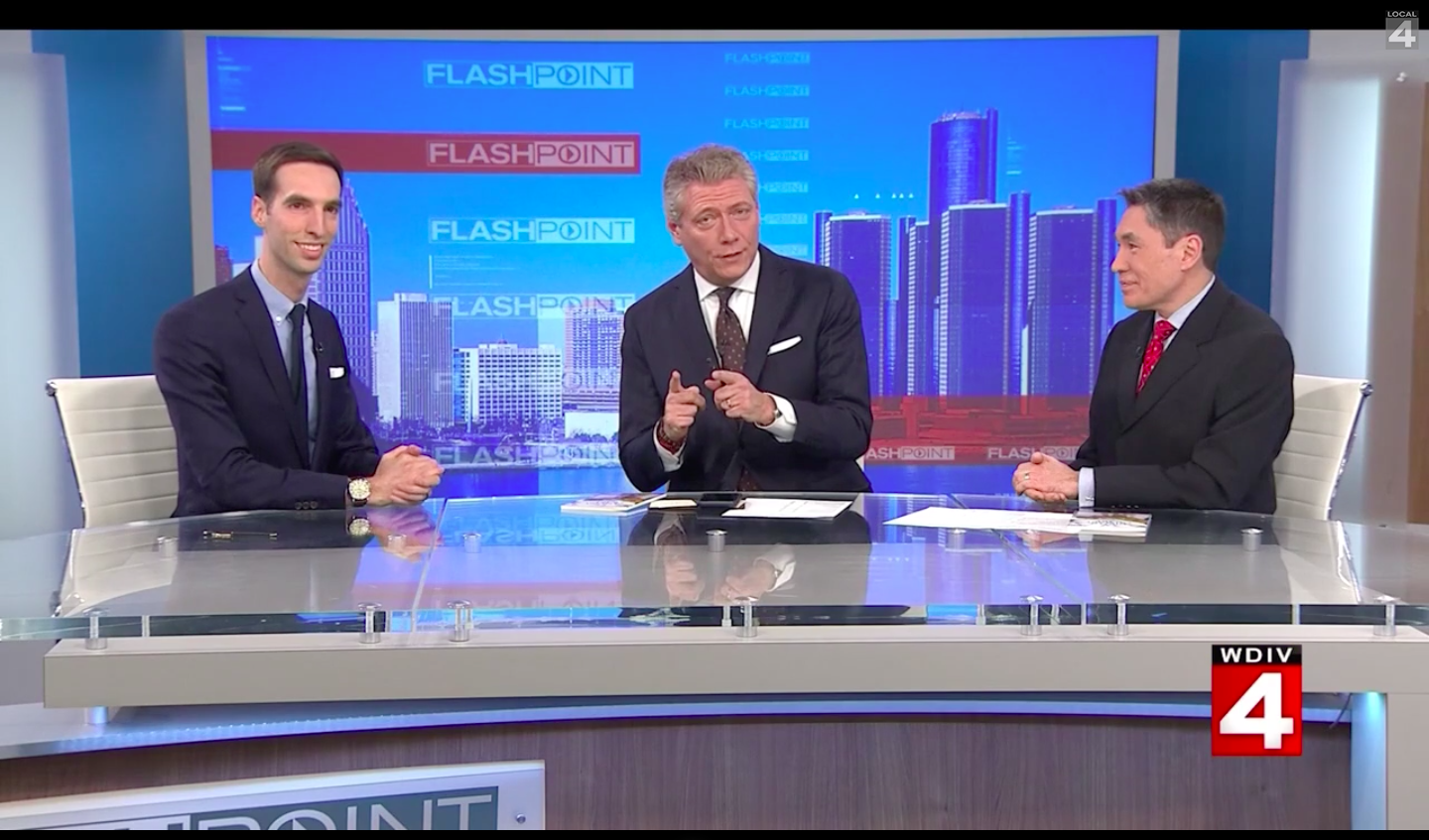 Paul Thomas MD on Flashpoint with Devin Scillian and Dr. Frank McGeorge of WDIV Channel 4 in Detroit, Michigan, discussing Direct Primary Care.