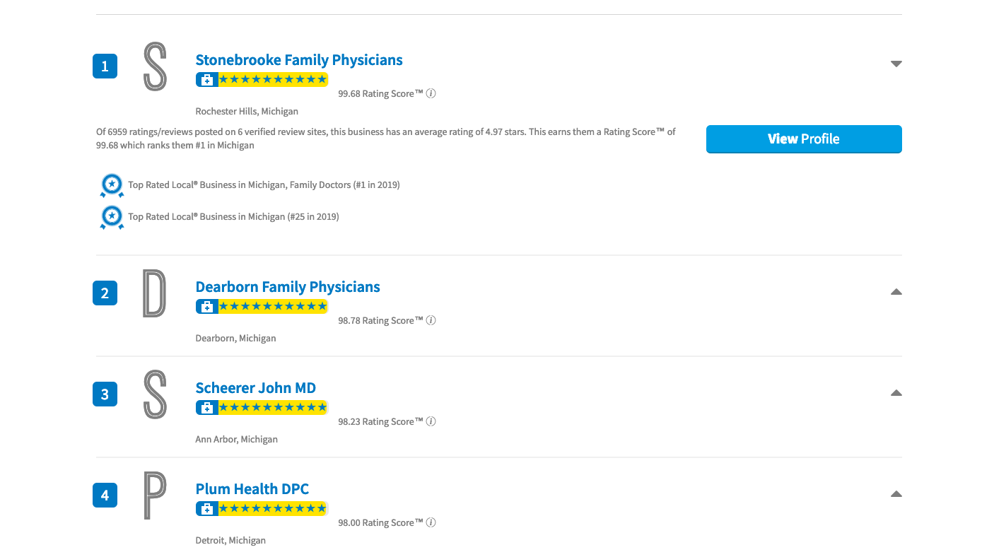Plum Health DPC is a Top Rated Family Doctor and Primary Care office in Detroit, based on the above review site.
