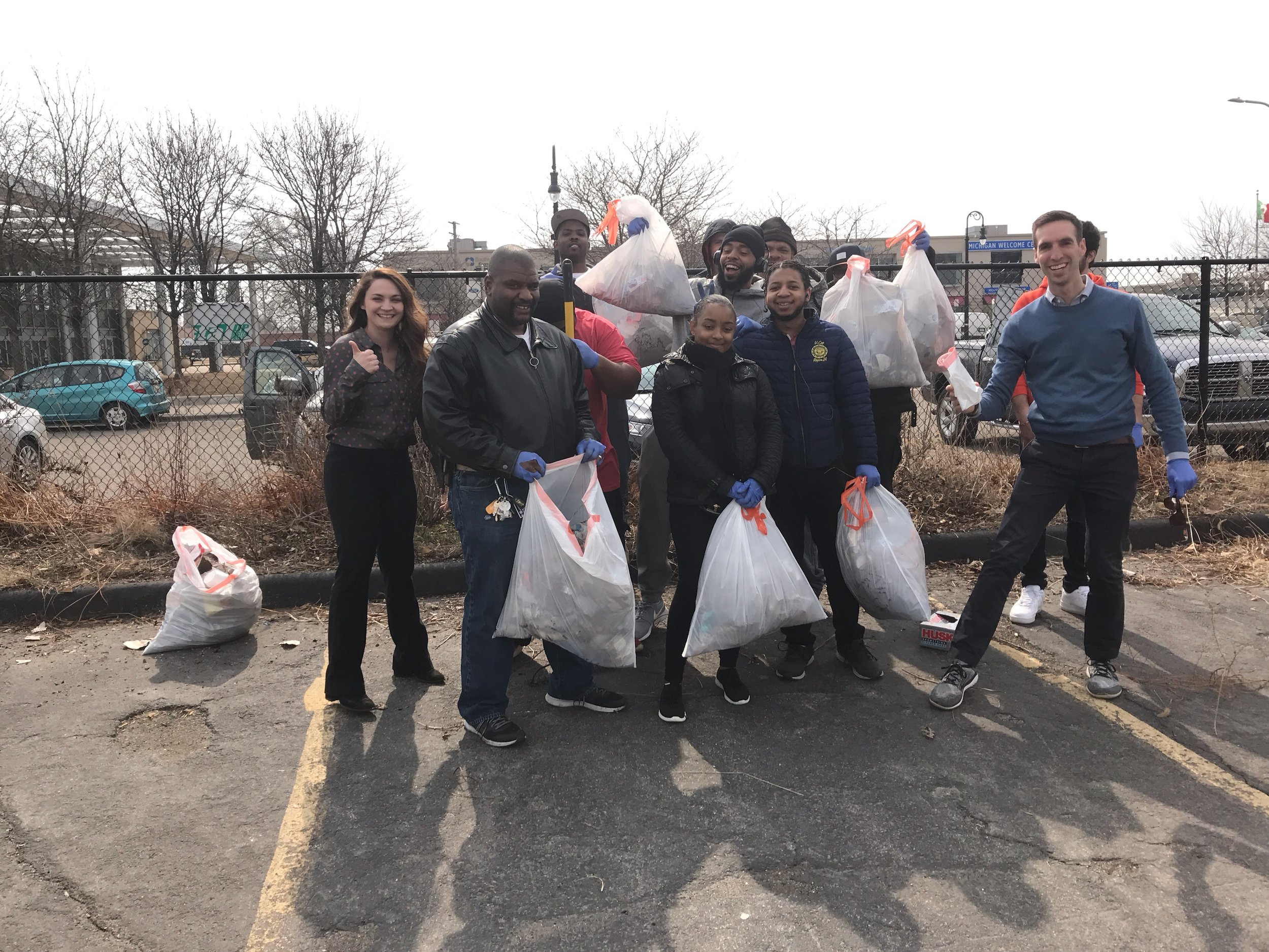 There was a bunch of trash beforehand, but we got it done - many hands make light work! This is the Plum Health DPC and DSDT crew cleaning up our shared parking lot and completing the Trashtag Challenge.