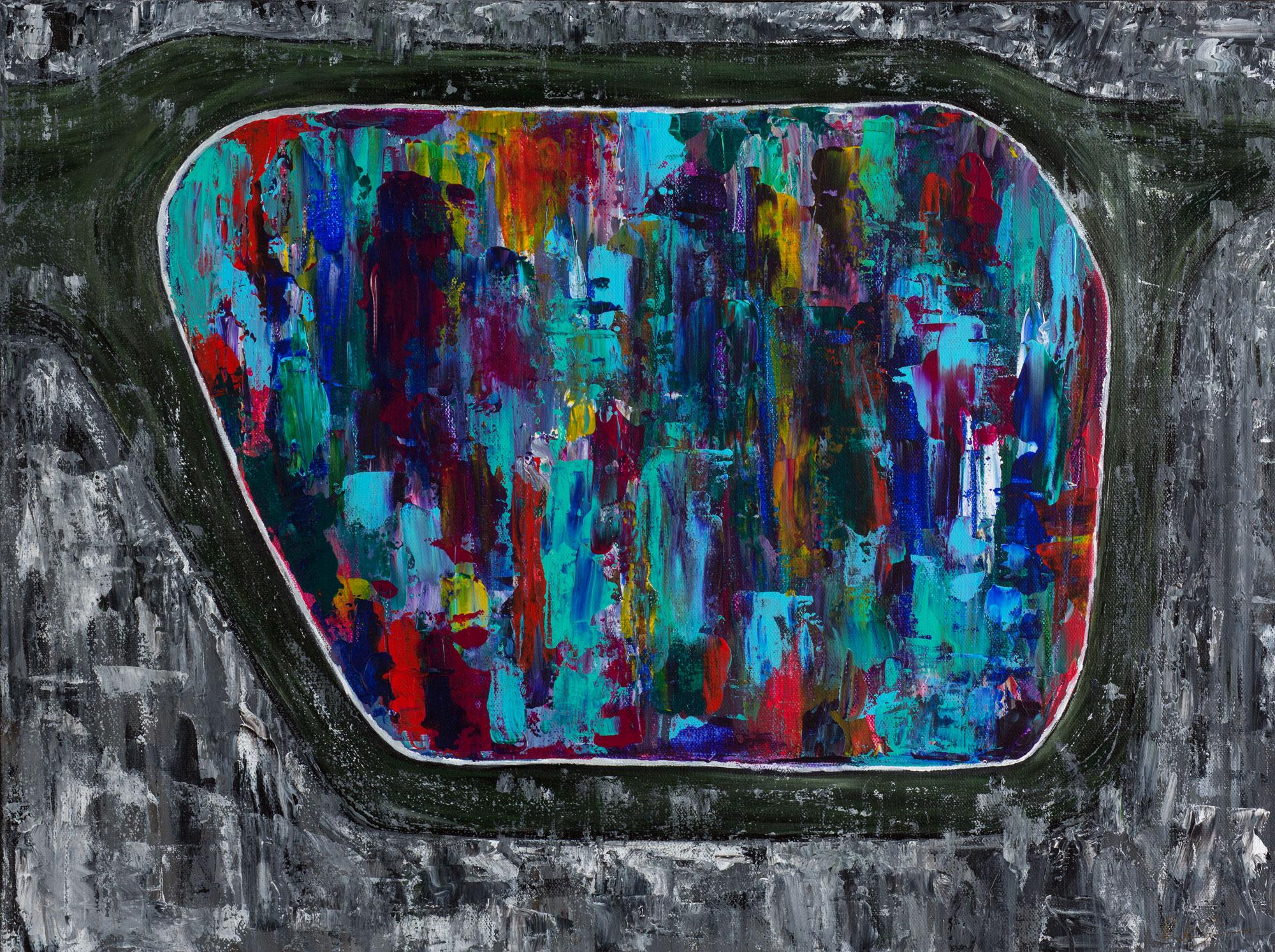 """24"""" x 18"""", Acrylic on Canvas"""