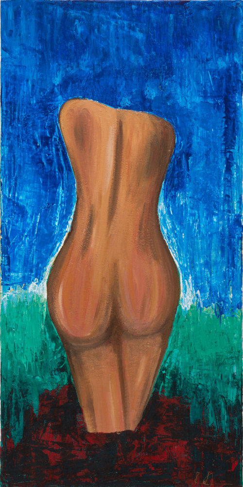 """12""""x 24"""", Acrylic on Canvas"""