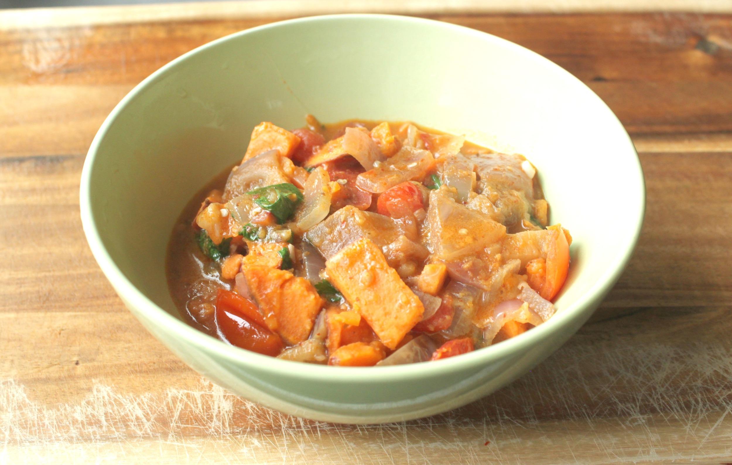 Sweet Potato & Eggplant curry