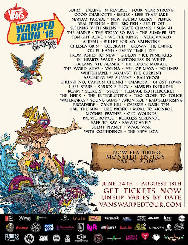 Bands at this years Warped Tour!