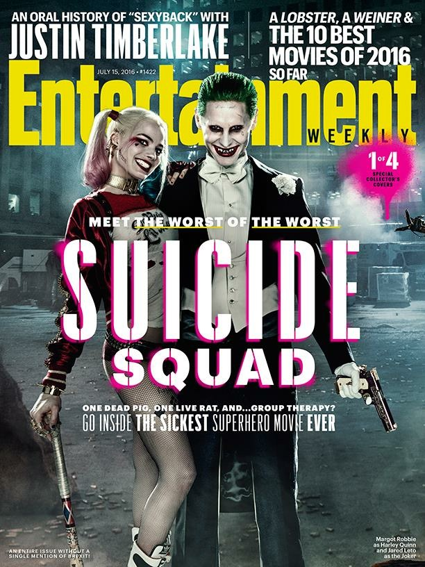 Margot Robbie and Jared Leto as  The Joker & Harley Quinn (Suicide Squad)