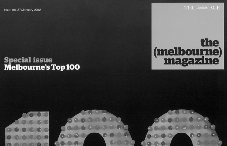 2011 The Age Newspaper Melbourne Magazine Top 100 Melbourne's Most Influential People for 2011
