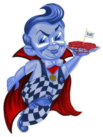 Bob's Big Boy as Dracula