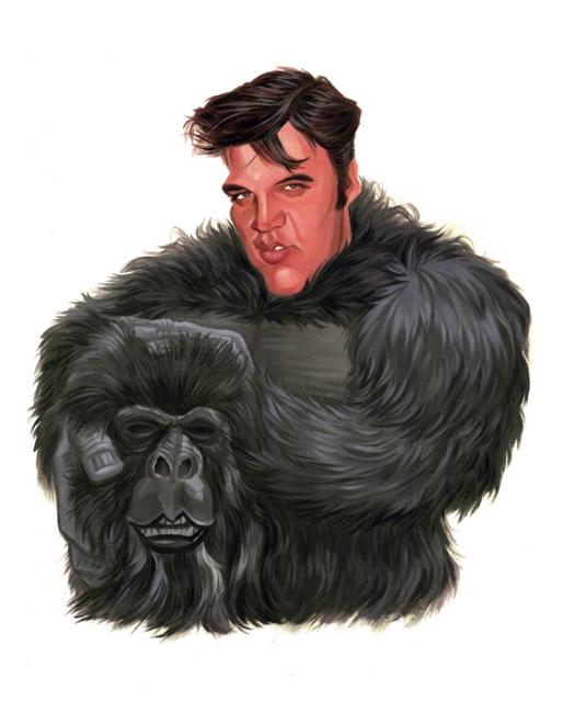 Elvis in Gorilla Suit