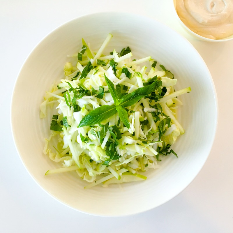 Green Goddess Coleslaw with Cashew Mayo