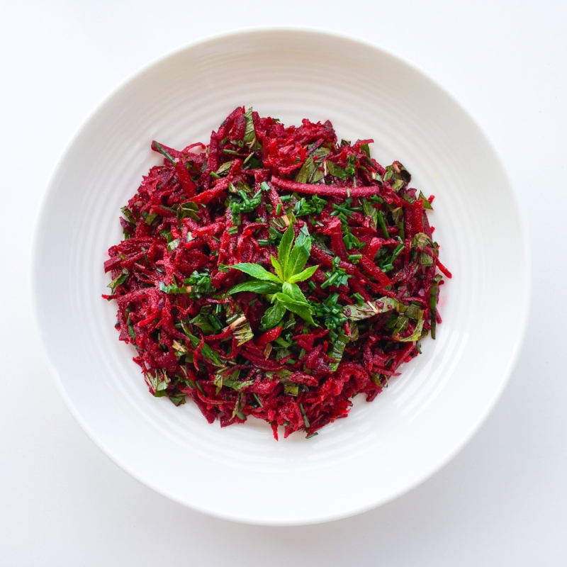 Minty Beetroot Salad with Balsamic Citrus Dressing