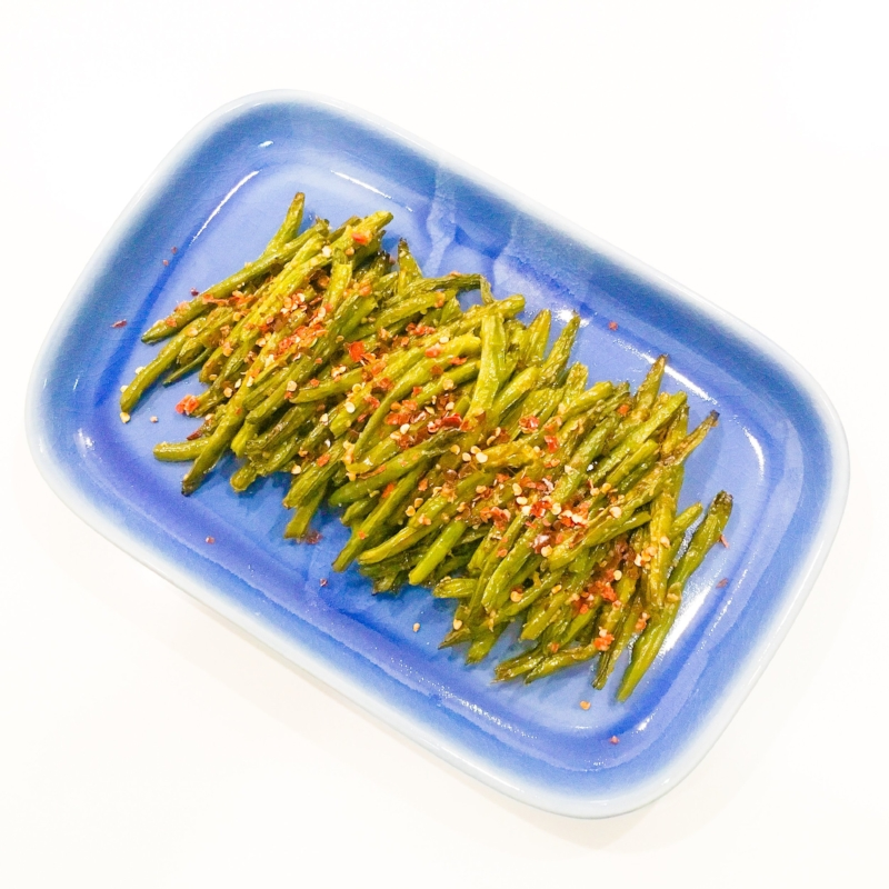 Roasted Green Beans with Chilli, Garlic & Anchovy