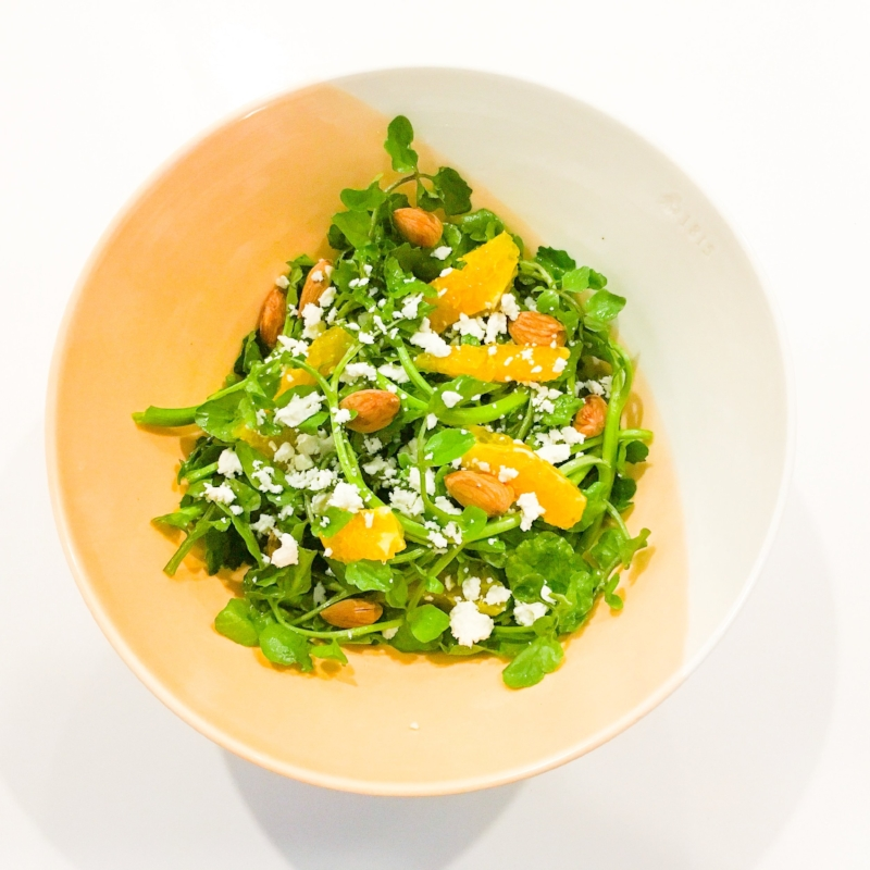Watercress & Citrus Salad with Almonds & Fetta