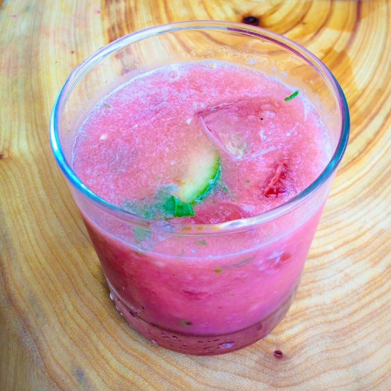Cooling Watermelon Cucumber & Mint Slushie