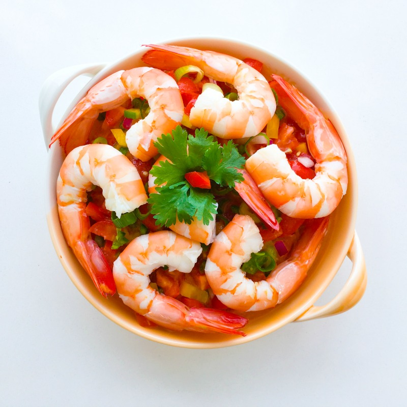 Prawns with Spicy Gazpacho