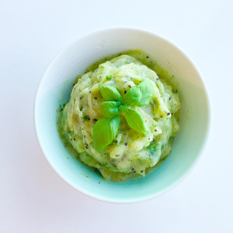 Kiwi, Lime & Basil Blender Sorbet